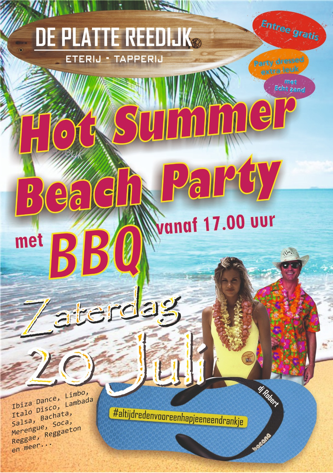 Summer beach party @deplattereedijk
